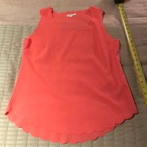 Tops - Scalloped Peach Top